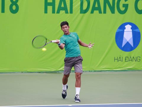 Tất Thái Nguyên vẫn chơi rất tốt ở giải U18 ITF trên sân nhà. Ảnh: BM