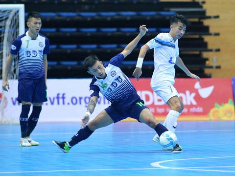 Thái Sơn Nam (trắng) và Hải Phương Nam là 2 đội bóng được đánh giá cao nhất giải vô địch TP.HCM đang diễn ra. Ảnh: BM