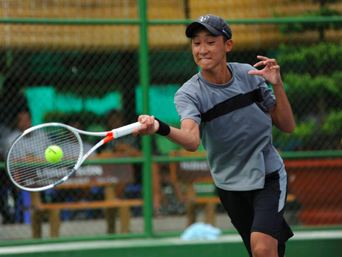 Tay vợt Việt kiều Tymothy cũng là hy vọng của quần vợt chủ nhà năm nay. Ảnh: BM
