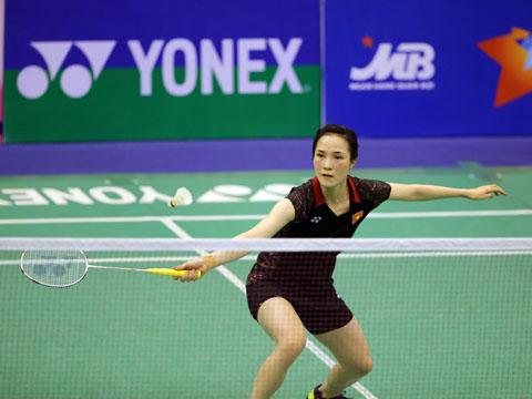 Vũ Thị Trang thất bại trước tay vợt đẳng cấp hơn người Nhật Bản tối 10-8. Ảnh: Quang Liêm