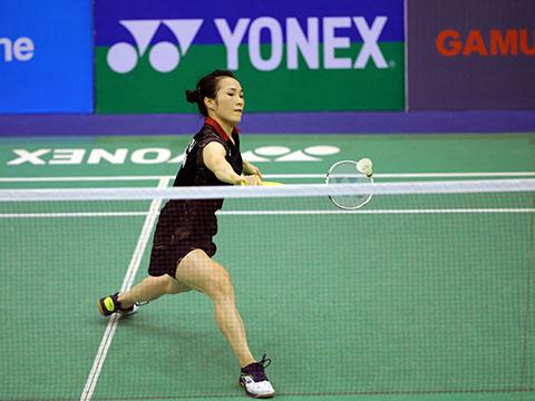 Vũ Thị Trang sẽ gặp tay vợt Nhật Bản rất mạnh ở tứ kết. Ảnh: Quang Liêm
