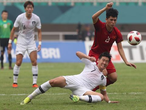 U23 Việt Nam của Đình Trọng đã chấp nhận thất bại trước đối thủ đẳng cấp nhất châu lục hiện tại. Ảnh: AFC