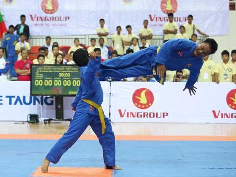 Các võ sĩ tranh tài tại Giải vô địch Đông Nam Á 2018. Ảnh: LG