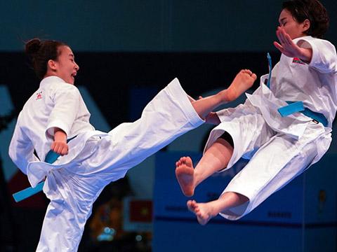 Karate tiếp tục lĩnh xướng trọng trách lấy Vàng cho thể thao Việt Nam ở Đại hội này. Ảnh: World Karate