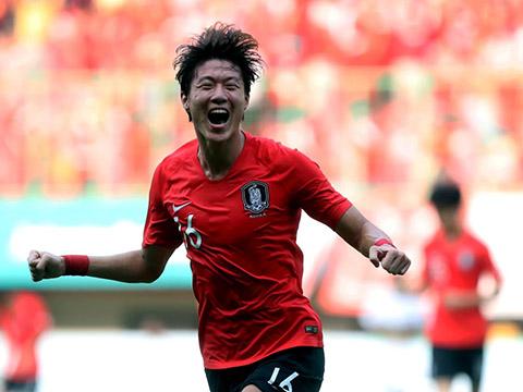 Hwang Jo đang có phong độ cực cao để giúp U23 Hàn Quốc vượt mọi khó khăn. Ảnh: AFC