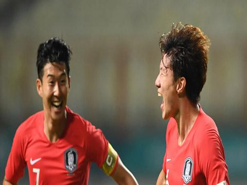 Son Min và Hwang Jo là 2 mũi tấn công cực kỳ nguy hiểm của U23 Hàn Quốc. Ảnh: AFC