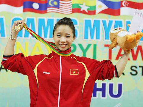 Dương Thúy Vi sẽ vẫn là hy vọng vàng của thể thao Việt Nam ở Đại hội cuối cùng trong sự nghiệp của cô. Ảnh: TTXVN