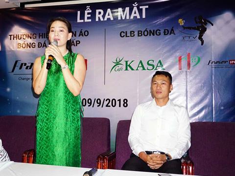 """""""Bà bầu"""" Huỳnh Trang Nhi sẽ là Chủ tịch CLB PTV Sài Gòn. Ảnh: Tuấn Phong"""