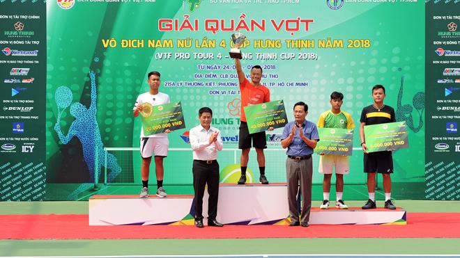 Lão tướng lên ngôi ở giải quần vợt VTF Pro Tour 4