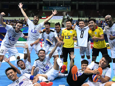 Niềm vui vào chung kết của đại diện Việt Nam ngày 10-8. Ảnh: AFC