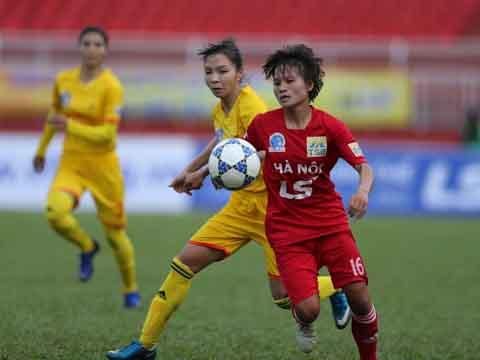 Hà Nội sẽ không dễ dàng đối đầu với đương kim Á quân Phong Phú Hà Nam ở trận bán kết 1. Ảnh: Anh Duy