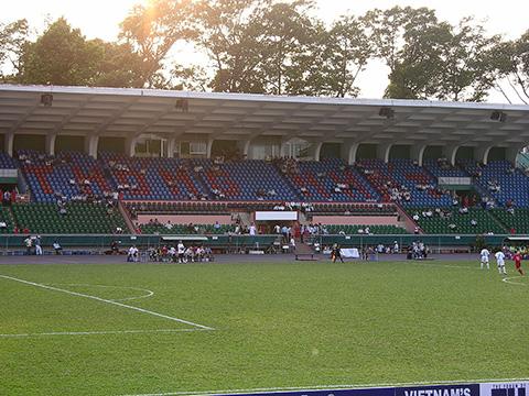Sân Thống Nhất sẽ được cải thiện mặt cỏ rất tốt cho mùa giải 2019. Ảnh: TM