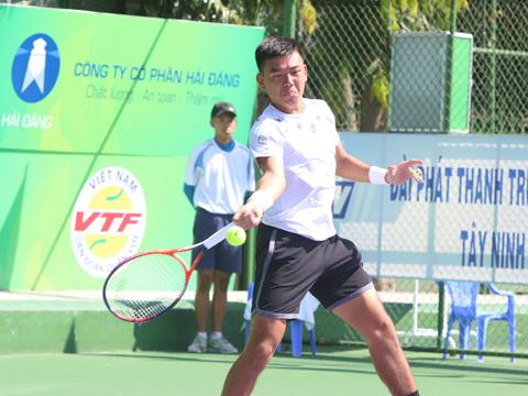 Hoàng Nam vẫn khởi đầu rất thuận lợi ở giải đấu đang diễn ra ở quê nhà Tây Ninh. Ảnh: TT