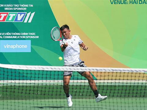 Lý Hoàng Nam dễ dàng vào bán kết giải đấu trên sân nhà. Ảnh: TT