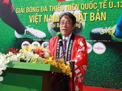 Đại sứ Umeda Kunio tin tưởng Việt Nam sẽ vô địch AFF Cup 2018. Ảnh: DP