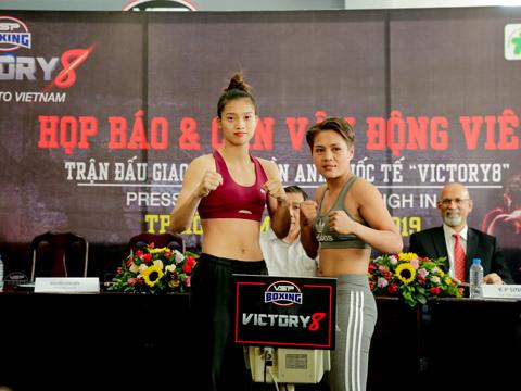 Võ sĩ Nguyễn Thị Tâm sẽ đọ sức với nhà vô địch Philippines ở hạng 51kg. Ảnh: BM