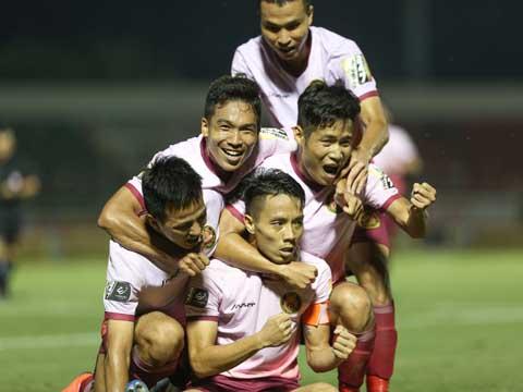 Sài Gòn đã có 11 điểm sau chiến thắng trước SHB Đà Nẵng tối 28/4. Ảnh: VPF