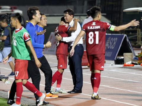 HLV Chung Hae Soung cho thấy tài năng rõ rệt ở TP.HCM. Ảnh: VPF