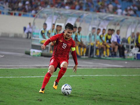 Quang Hải là tay săn bàn số 1 dưới thời HLV Park Hang Seo. Ảnh: Hoàng Linh