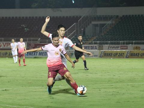 Tuy nhiên Sài Gòn chưa bao giờ dễ chơi ở Thống Nhất khi họ đã thắng ở đây 4 trận và hoà 1 trận. Ảnh: VPF