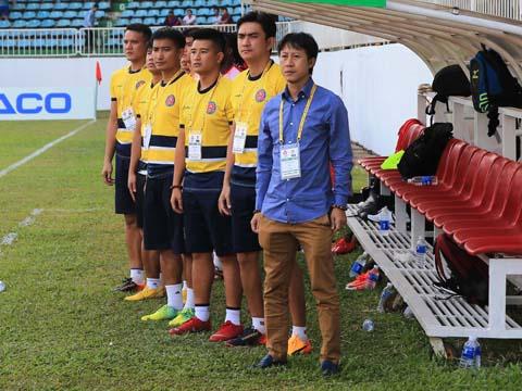 HLV Nguyễn Thành Công đang khẳng định tài năng ở V-League với Sài Gòn. Ảnh: VPF