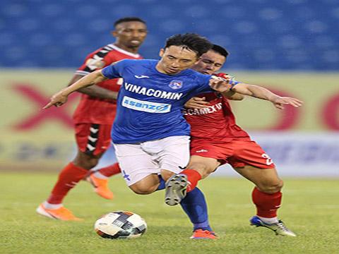 B.Bình Dương xếp vị trí thứ 11 với 12 điểm sau trận thua Than Quảng Ninh tuần qua. Ảnh: VPF