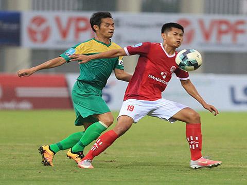 Bình Phước của cựu tuyển thủ QG Vũ Phong đang thăng hoa ở giải hạng Nhất. Ảnh: VPF