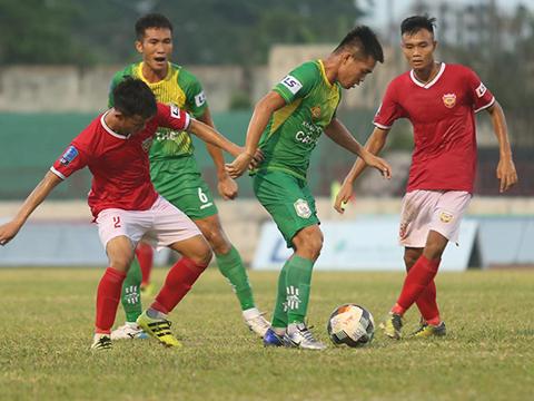 Hồng Lĩnh Hà Tĩnh đang cho thấy quyết tâm thăng hạng V-League 2020. Ảnh: VPF