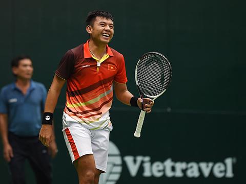 Lý Hoàng Nam là kỳ vọng thăng hạng của quần vợt Việt Nam. Ảnh: TT