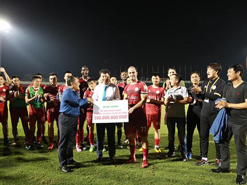 Đội bóng của HLV Chung Hae Soung sẽ đến sân Bà Rịa Vũng Tàu để tiếp SHB Đà Nẵng vòng 16 thay vì sân Thống Nhất như thường lệ. Ảnh: VPF