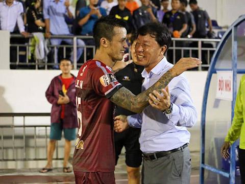 Hàng thủ của đội bóng do HLV Chung Hae Soung dẫn dắt đang có phong độ tốt khi để thua ít nhất V-League hiện tại. Ảnh: VPF