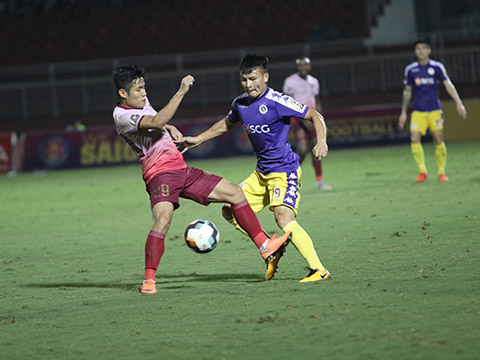 Quang Hải đang lấy lại sự tự tin với Hà Nội khi góp 2 bàn cho đội nhà ở V-League 2 vòng gần nhất. Ảnh: VPF