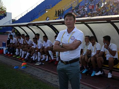 HLV Lê Huỳnh Đức bày tỏ niềm vui khi TP.HCM khởi sắc năm nay. Ảnh: VPF
