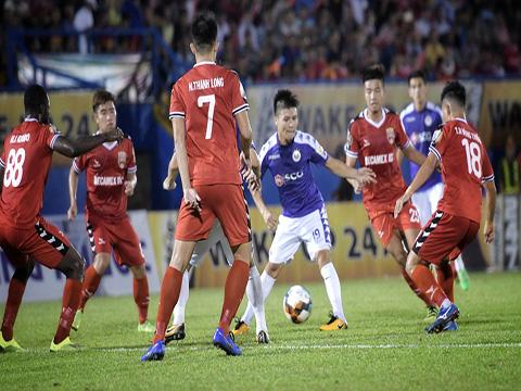 B.Bình Dương và Hà Nội là 2 CLB vô địch 8/12 mùa V-League gần nhất. Ảnh: VPF