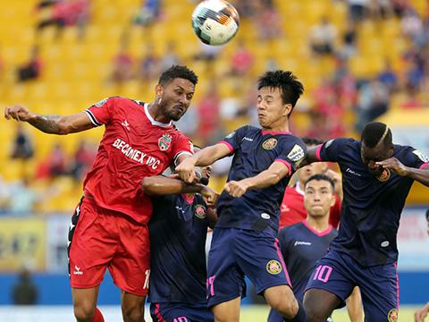 Đội bóng đất Thủ đã tận dụng tốt cơ hội từ pha không chiến cuối trận để đánh bại Sài Gòn và đoạt vé vào bán kết. Ảnh: VPF