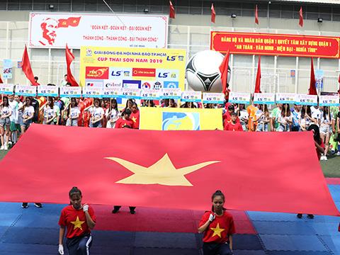 Giải bóng đá Hội Nhà báo TP.HCM - Cúp Thái Sơn Nam 2019 thu hút hơn 300 cầu thủ tranh tài. Ảnh: DD