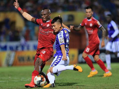 Quang Hải cùng đồng đội đã đánh bại TP.HCM 1-0 ở Hàng Đẫy lượt đi. Ảnh: VPF