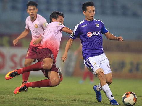 Đội trưởng Hà Nội FC đang là chỗ dựa đáng tin cậy cho đội nhà ở cuối mùa giải năm nay. Ảnh: VPF