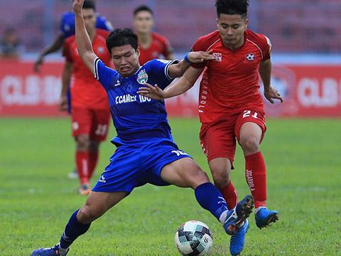 3 điểm trước Hải Phòng giúp B.Bình Dương yên tâm tiếp đón Hà Nội ở đại chiến chung kết AFC Cup 2019 chiều 31/7. Ảnh: VPF