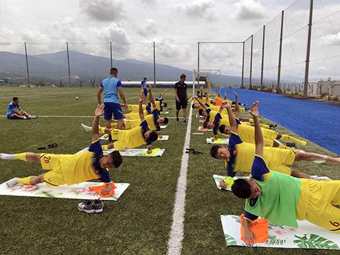 U18 Việt Nam nằm ở bảng đấu rất nặng ký nhưng có ưu thế sân nhà. Ảnh: VFF