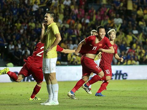 Dưới thời HLV Park Hang Seo, các ĐTQG Việt Nam toàn thắng Thái Lan từ đội U23 đến ĐTQG. Ảnh: Nhân Văn