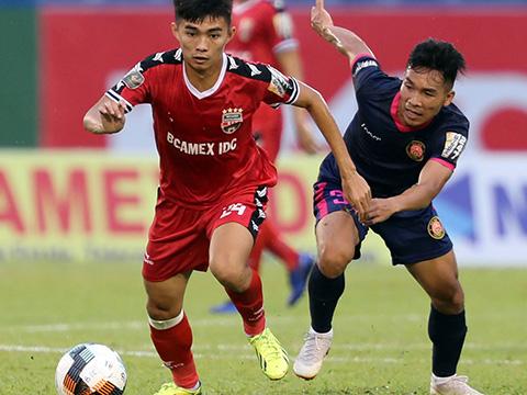 B.Bình Dương vượt qua Sài Gòn 1-0 ở vòng 20. Ảnh: VPF
