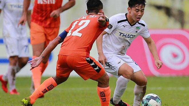 SHB Đà Nẵng không phục thất bại ở sân Pleiku tuần qua. Ảnh: VPF