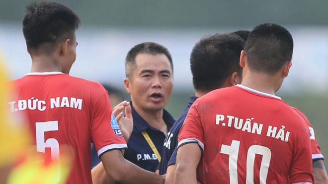 HLV Phạm Minh Đức đã có mùa giải thành công với Hồng Lĩnh Hà Tĩnh. Ảnh: VPF