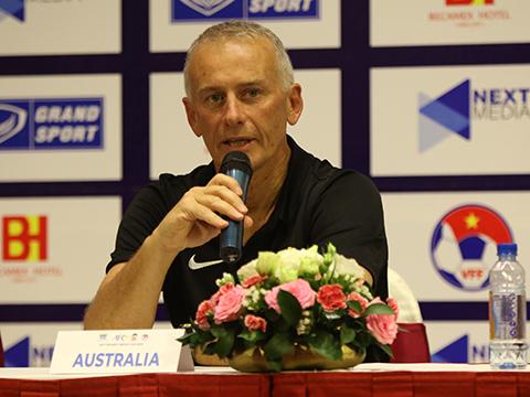HLV Van Egmond đặt mục tiêu U18 Australia phải vượt qua vòng bảng. Ảnh: Nguyễn Dự