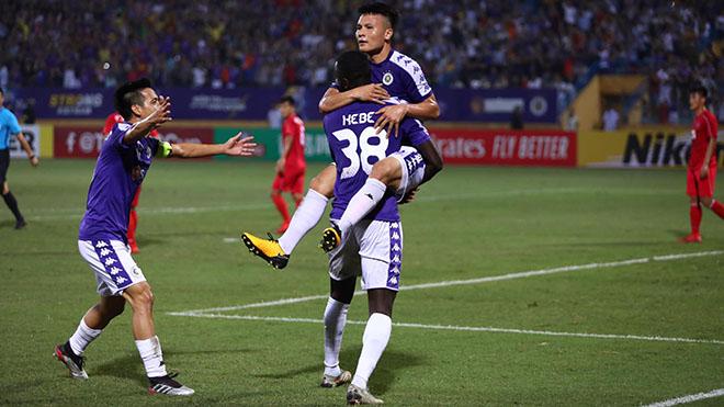Hà Nội có thế trận rất tốt trước nhà vô địch đến từ Triều Tiên. Ảnh: Hoà Nguyễn