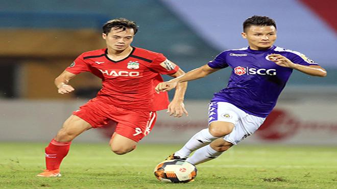 Quang Hải và các tuyển thủ ở Hà Nội có sự ổn định cao hơn những Văn Toàn và các tuyển thủ đang thi đấu ở HAGL. Ảnh: VPF