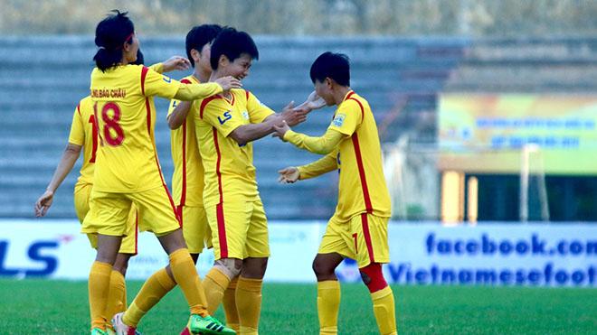 Chiến thắng 3-0 trước đối thủ mạnh Hà Nội là minh chứng cho sức mạnh của TP.HCM 1. Ảnh: PH
