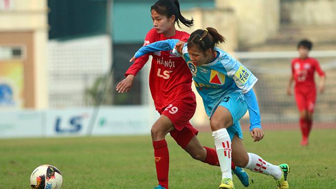 Chiến thắng 8 sao trước Sơn La chiều 27-9 giúp Hà Nội khiến Phong Phú Hà Nam lo lắng cho vị trí thứ 2. Ảnh: PH