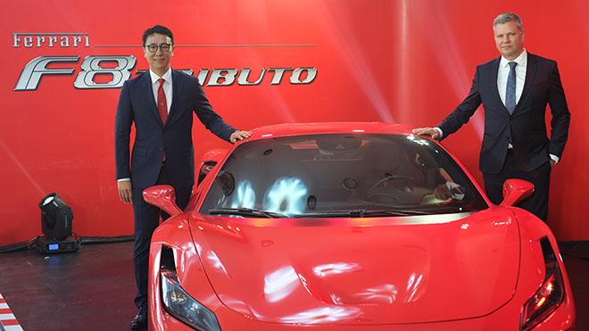 """""""Ngựa chồm"""" Ferrari F8 Tributo cũng đặc biệt giới thiệu lần đầu tiên tại Việt Nam. Ảnh: Thanh Quân"""